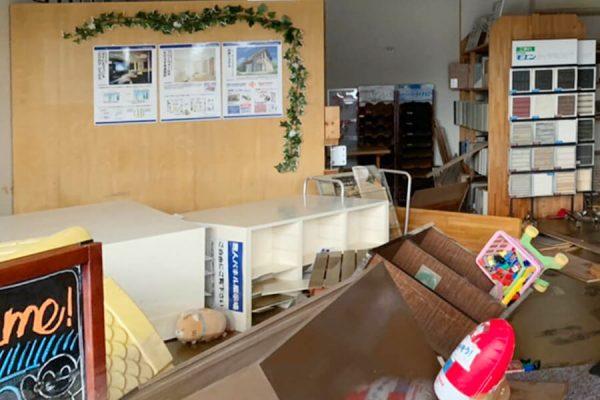 8月豪雨により被災した朝日I&Rリアルティ武雄支店の店内