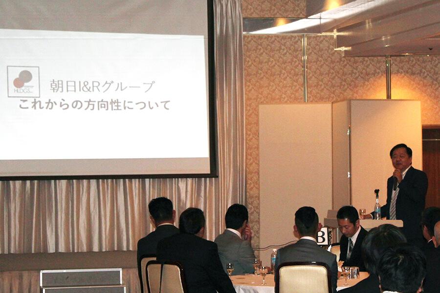 朝日I&Rグループの方向性について語る 朝日I&Rホールディングス副社長 長澤猛氏