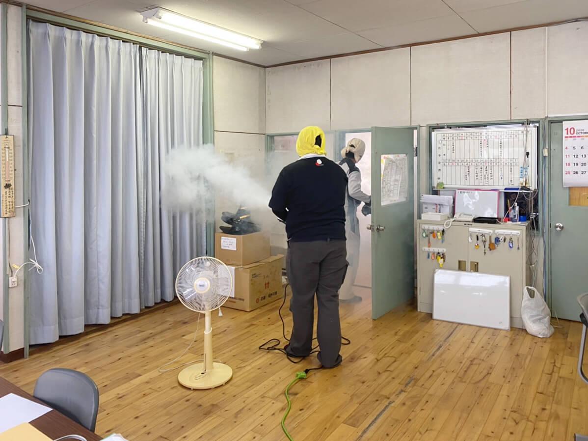 除菌工房施工中の様子①