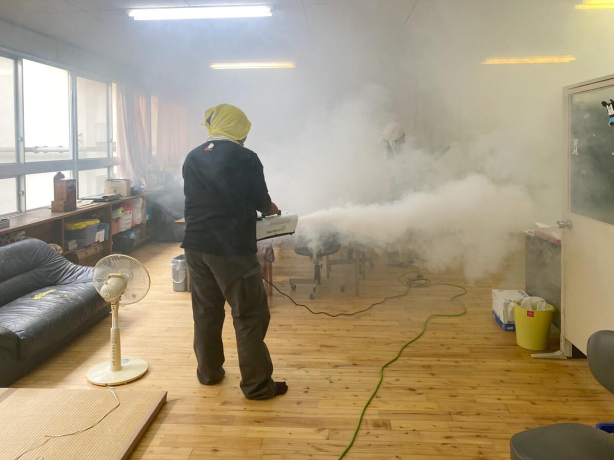 除菌工房施工中の様子②