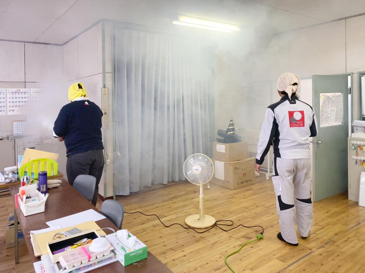 除菌工房施工中の様子③